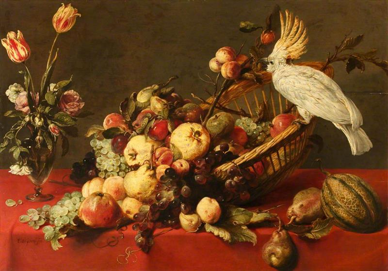 A Still Life with Fruit and a Cockatoo