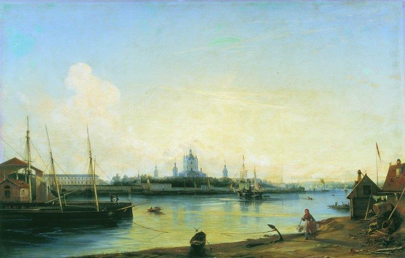 A View of Smolny Monastery, St. Petersburg