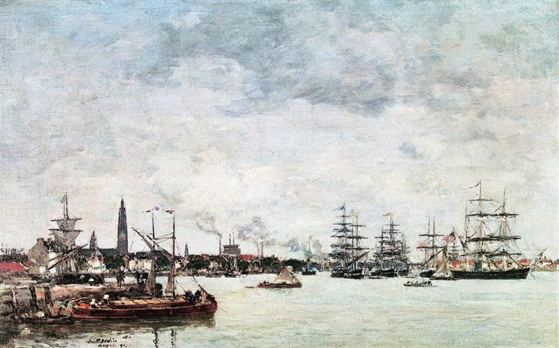 Antwerp, Boats on the Scheldt