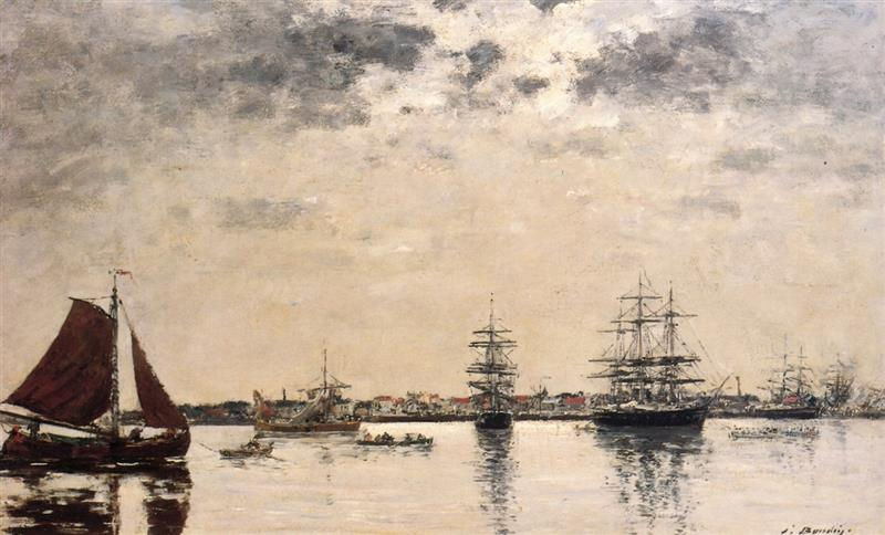 Antwerp, boats on the River Scheldt