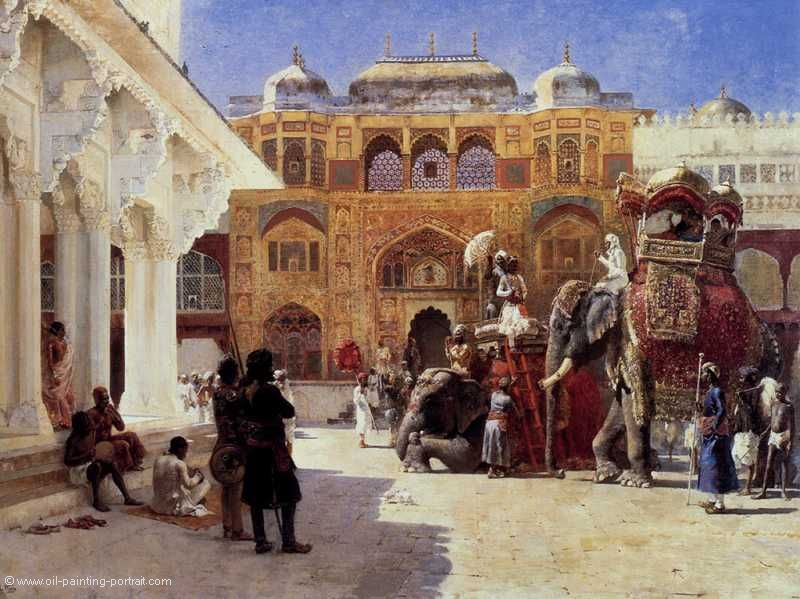 Arrival of Prince Humbert the Rajah at the Palace of Amber