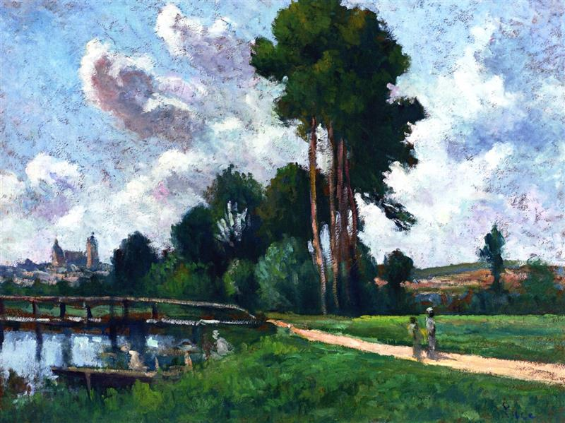 Auxerre, Landscape by the River