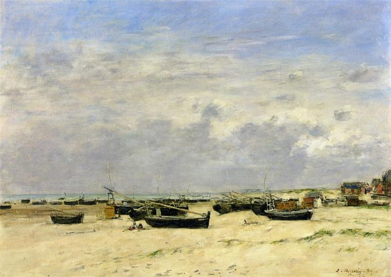 Berck, Boats aground on the Beach