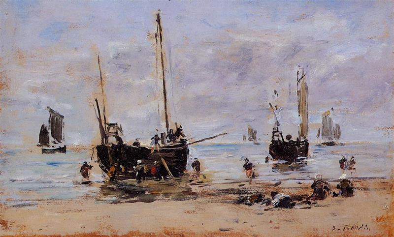 Berck, Fishermen at Low Tide