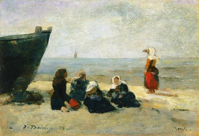 Berck, Fisherwomen Looking for the Return of the Boats
