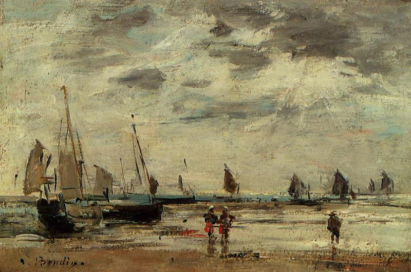 Berck, Jetty and Sailing Boats at Low Tide