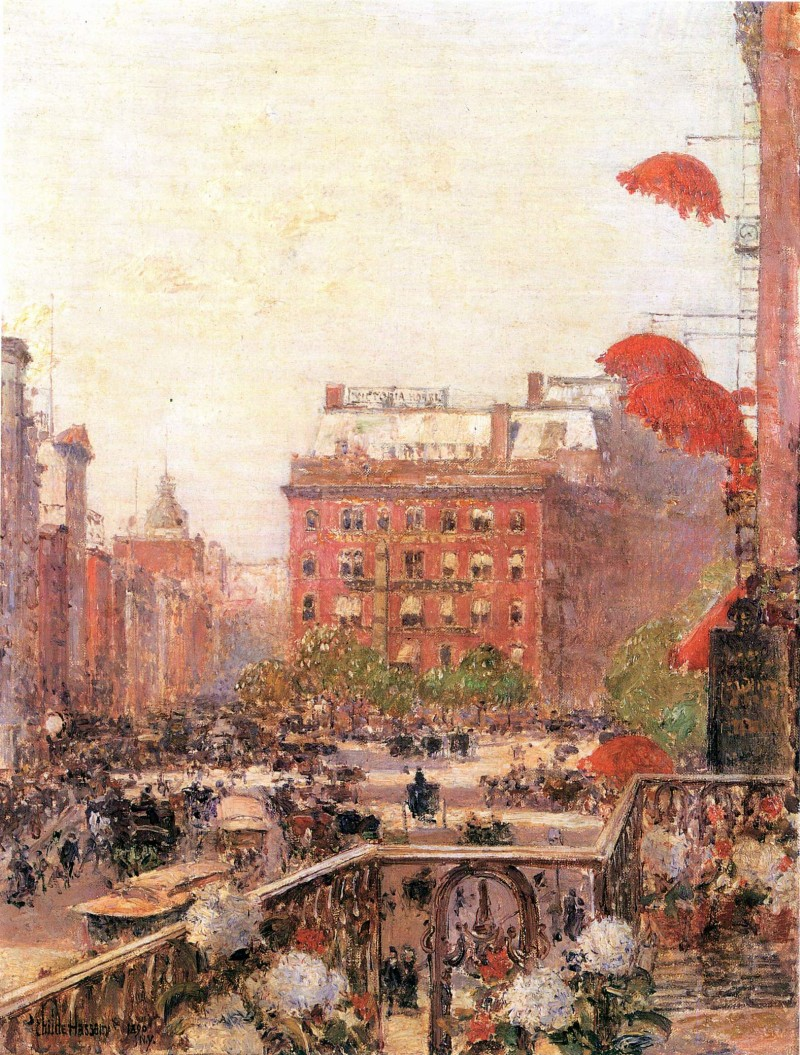 Blick auf Broadway und Fifth Avenue - Bilder, Gemälde und Ölgemälde ...