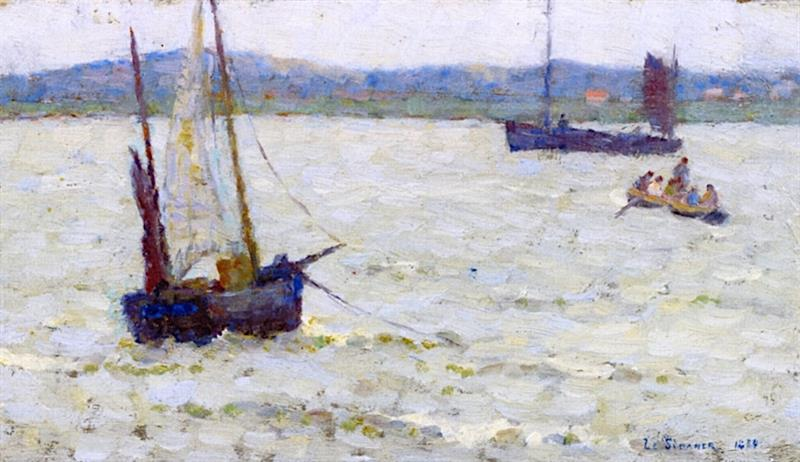 Boats in the Lagoon, Etaples