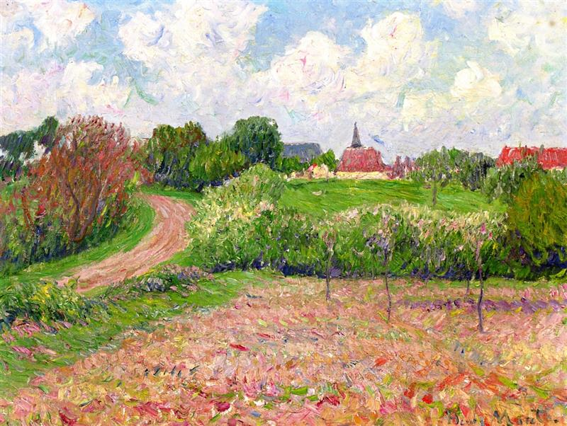 Breton Landscape, Trees and Flowers