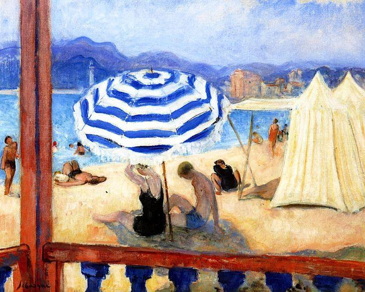 Cannes, Blue Parasol and Tents
