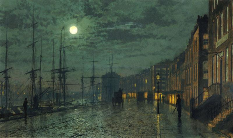 City Docks by Moonlight