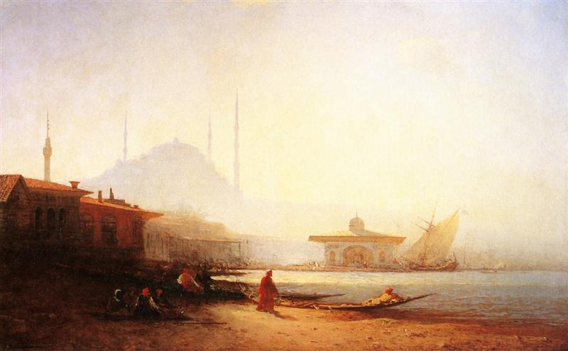 Constantinople, soleil couchant