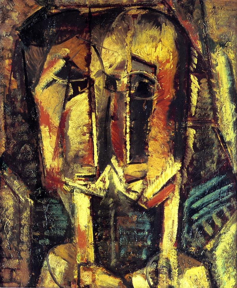 Cubist Two Heads