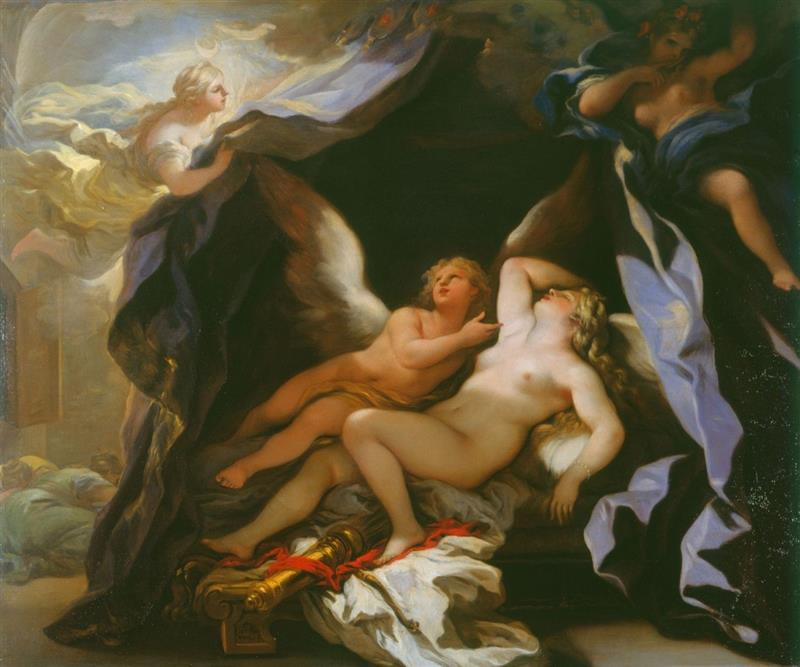 Cupid Visiting the Sleeping Psyche