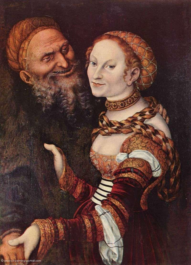 Der verliebte Alte - Bilder, Gemälde und Ölgemälde-Replikation