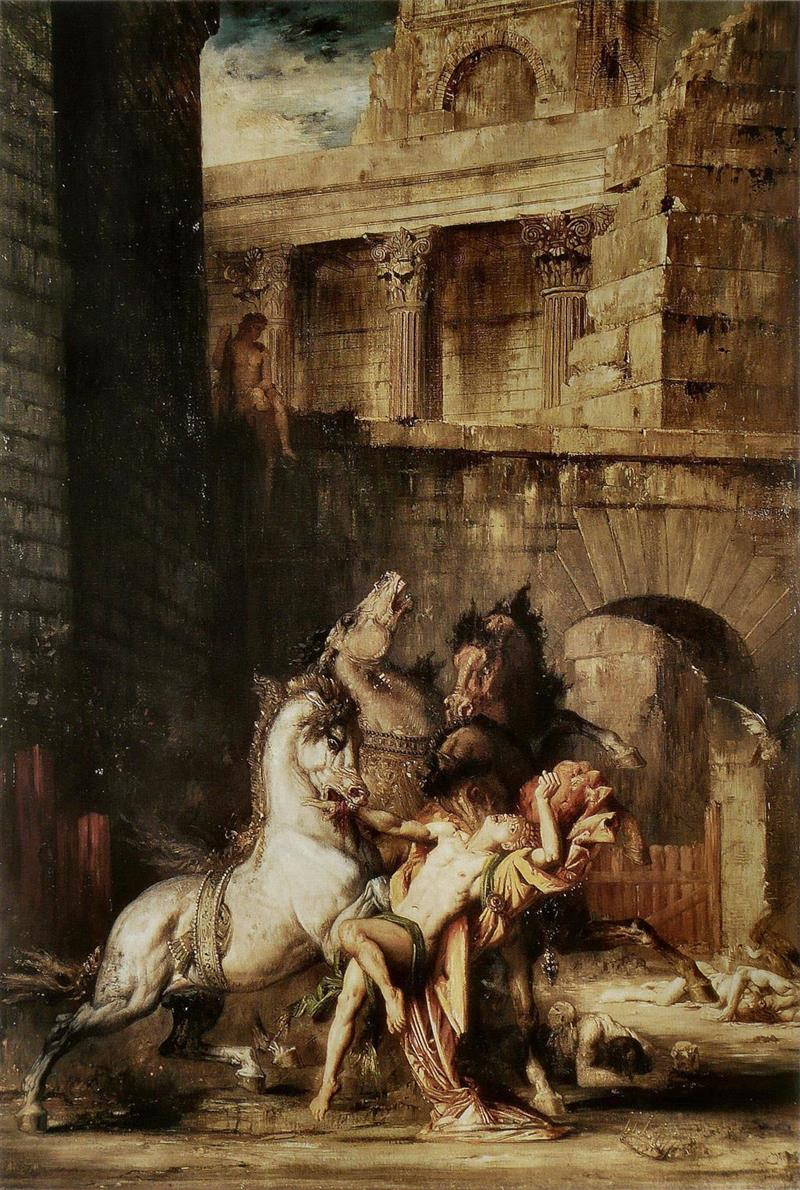 Diomedes Being Eaten by his Horses