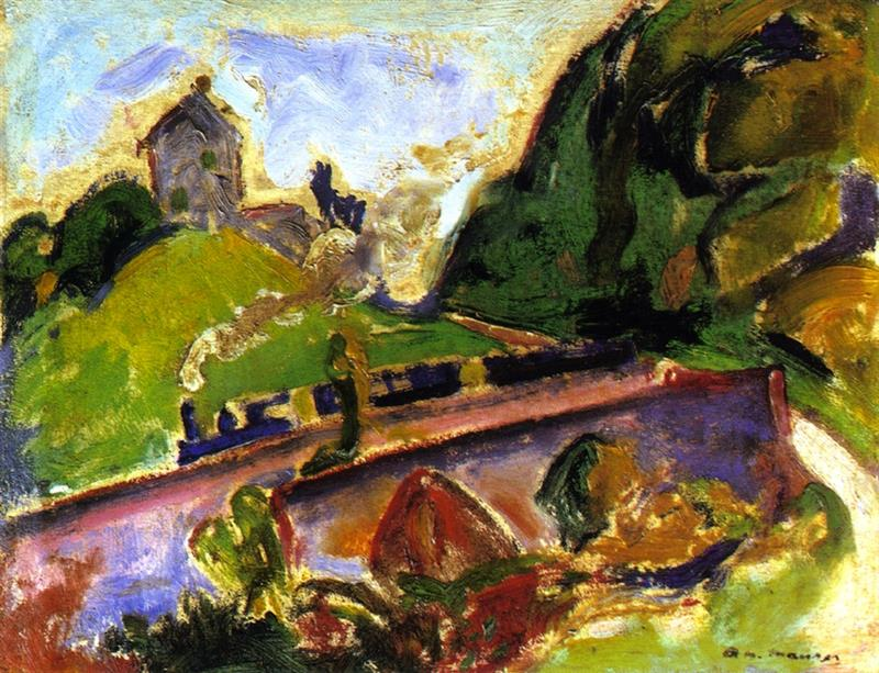 Fauve Landscape with Train