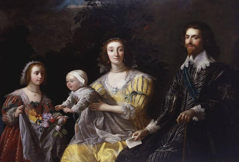 George Villiers, 1st Duke of Buckingham with his Family