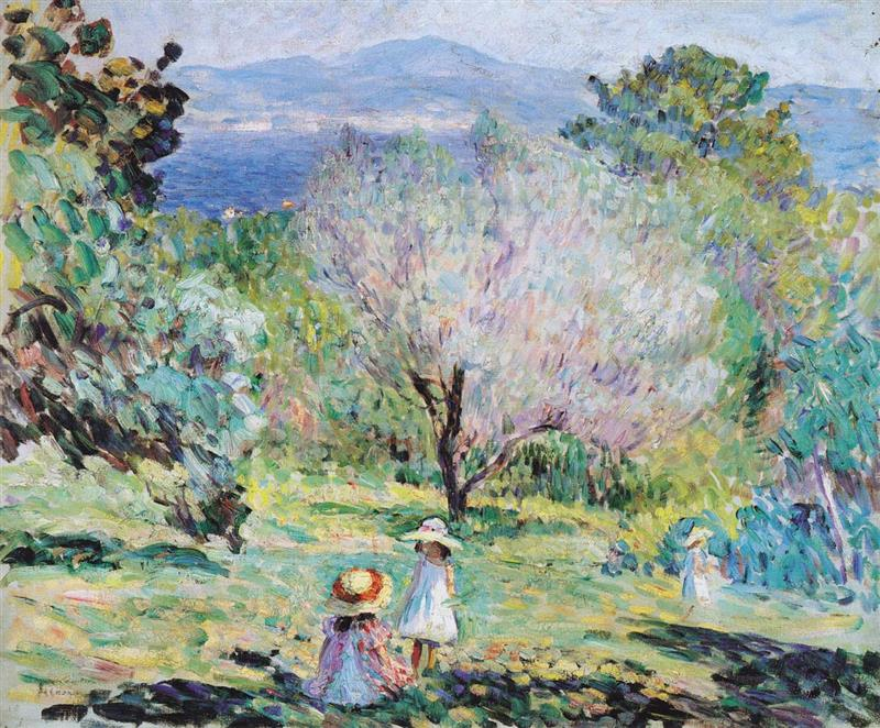 Girls in a landscape in Cannes