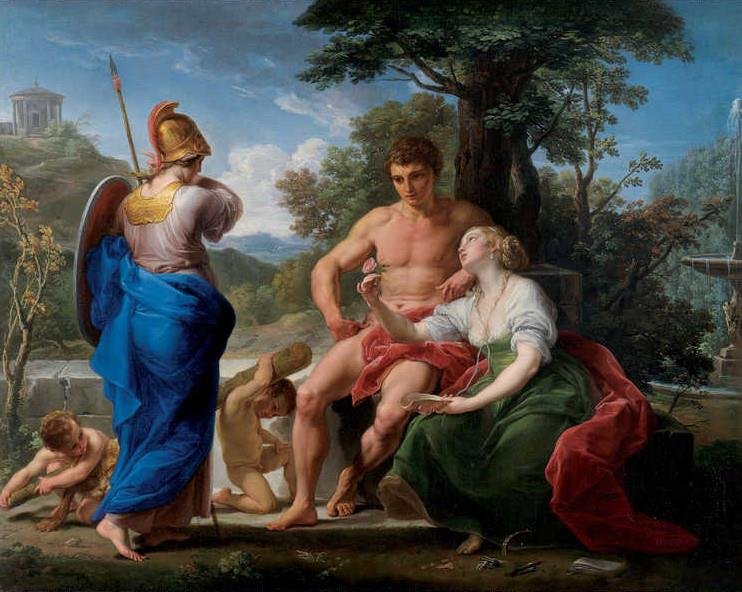 Hercules at the crossroads between Virtue and Pleasure