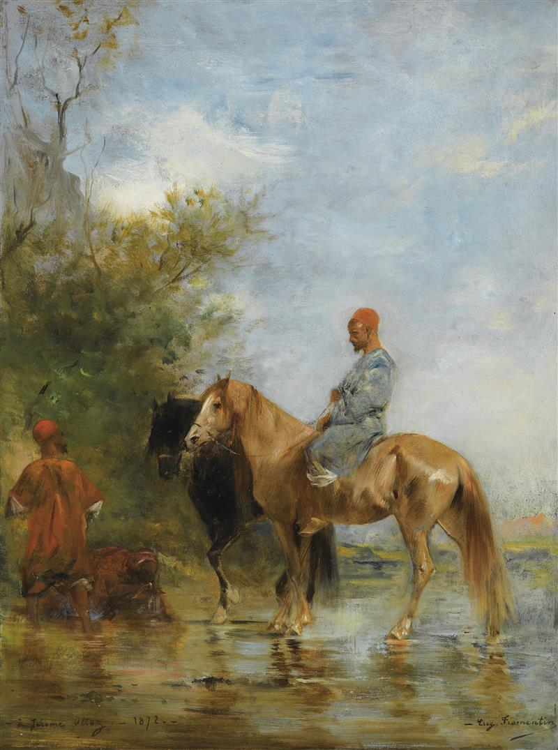 Horsemen by the River