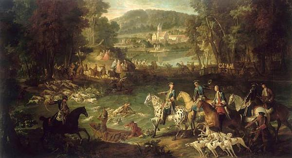 Hunting at the Saint-Jean Pond in the Forest of Compiegne