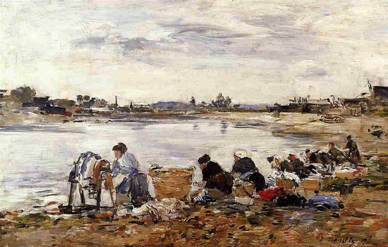 Laundresses on the Banks of the Touques-2