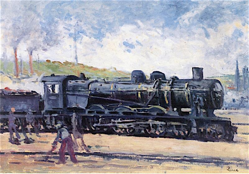 Locomotive, near Charleroi