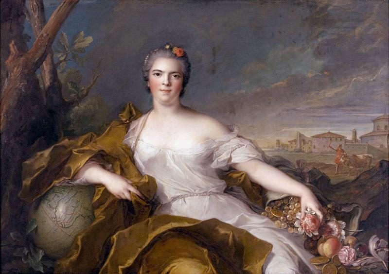 Louise-Elisabeth de France, as the element of Earth