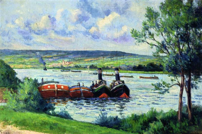Méricourt, Barges and Tug Boats