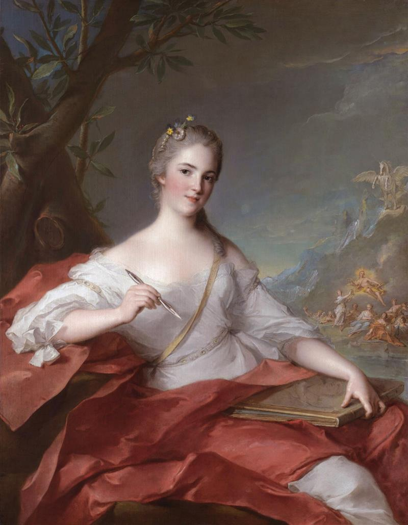 Marie-Geneviève Boudrey, as a muse