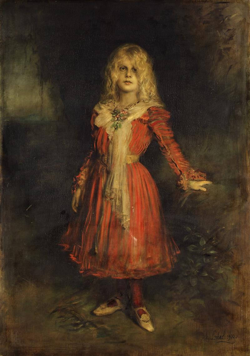 Marion Lenbach, the Artist's Daughter