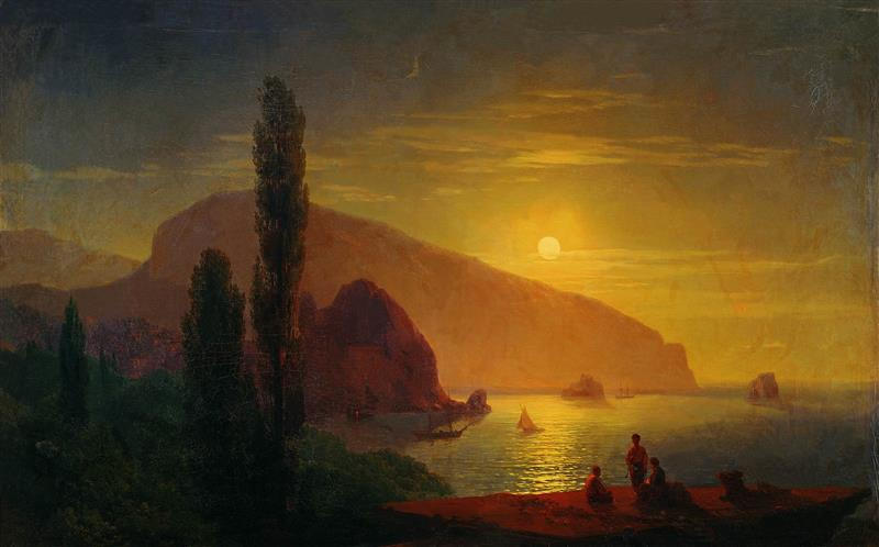 Night in Crimea, View of Ayu Dag