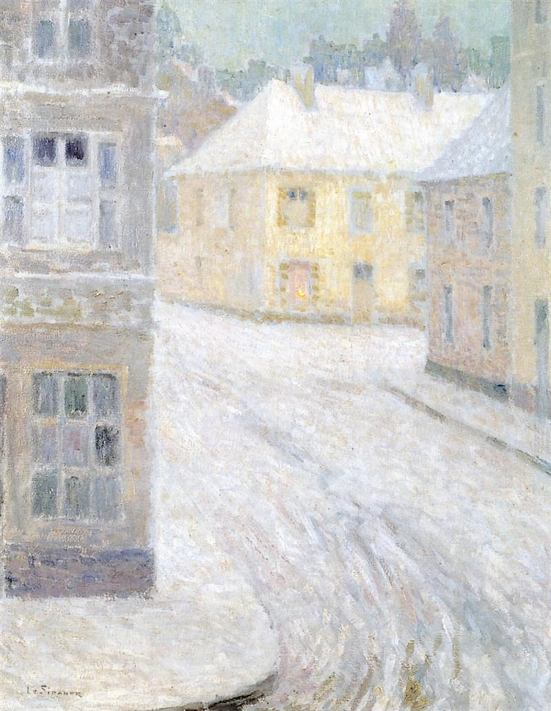 Old Houses in the Snow, rue Petigny