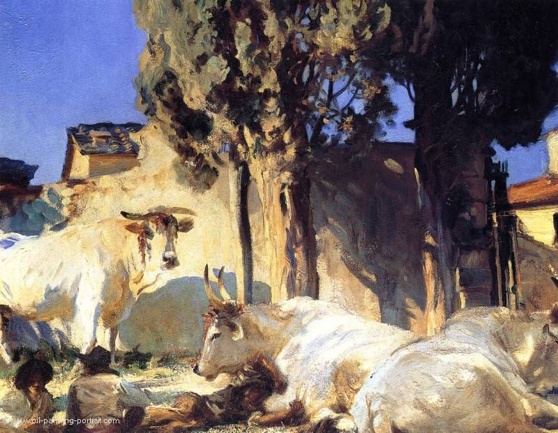 Oxen Resting