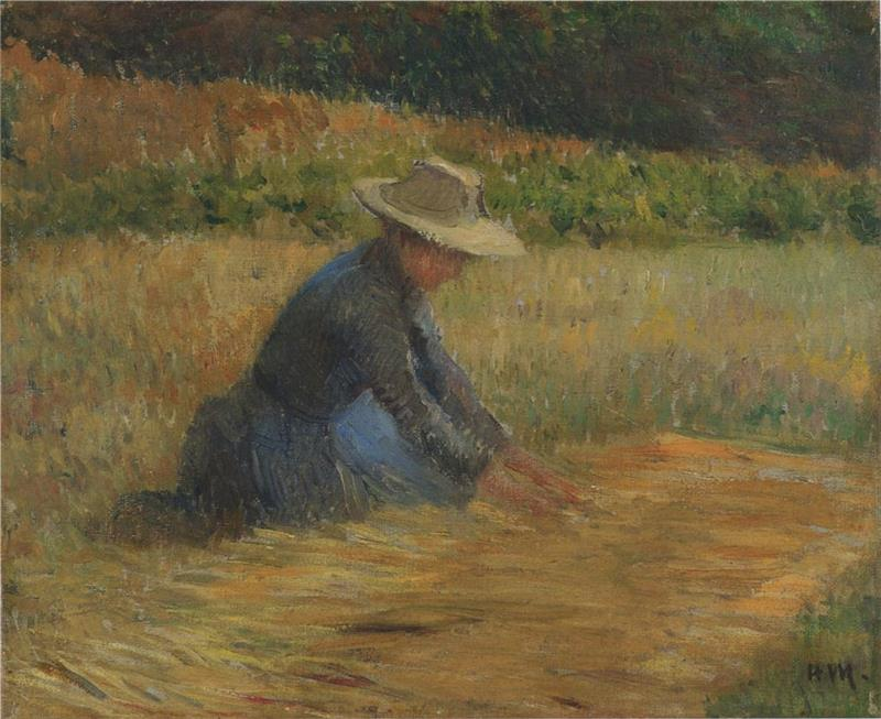 Peasant woman in the fields