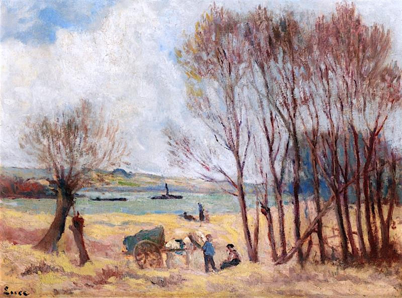 Peasants by the Seine, near Rolleboise