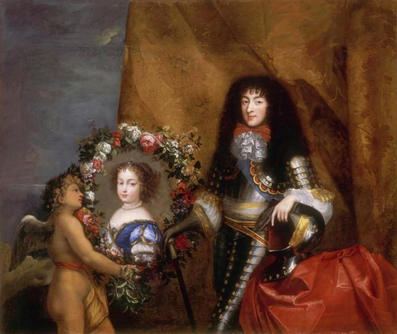 Philippe of France with his favourite daughter Marie Louise