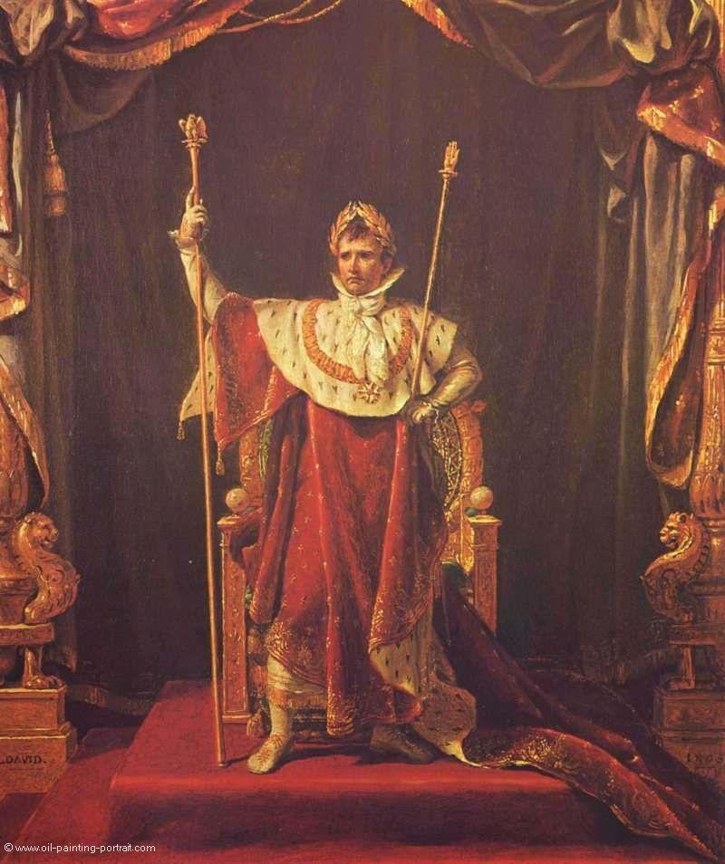 portrait des napoleon im kaiserlichen gewand bilder gem lde und lgem lde replikation. Black Bedroom Furniture Sets. Home Design Ideas