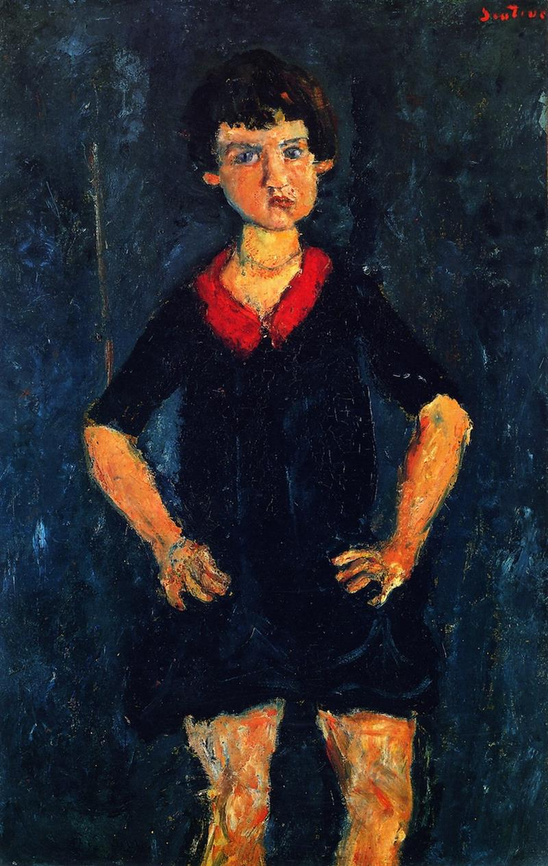 Portrait of a Child in Blue