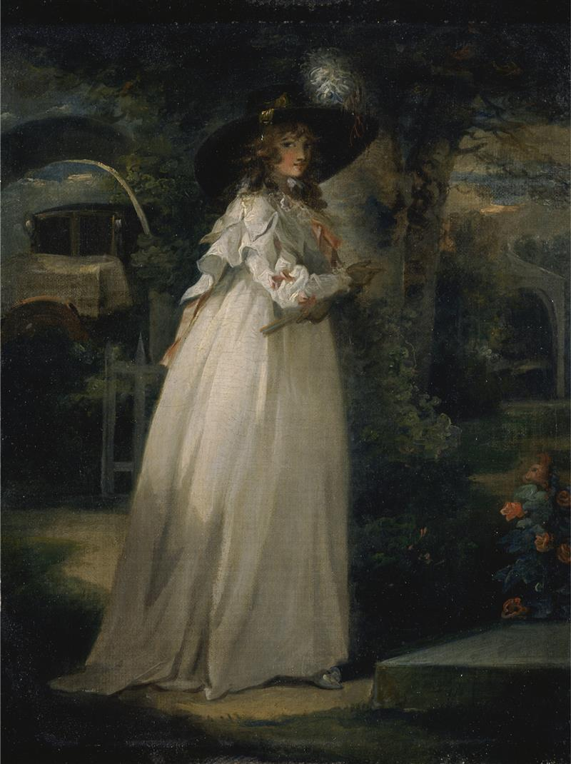 Portrait of a Girl in a Garden