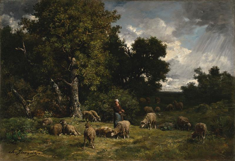 Shepherdess and Her Sheep