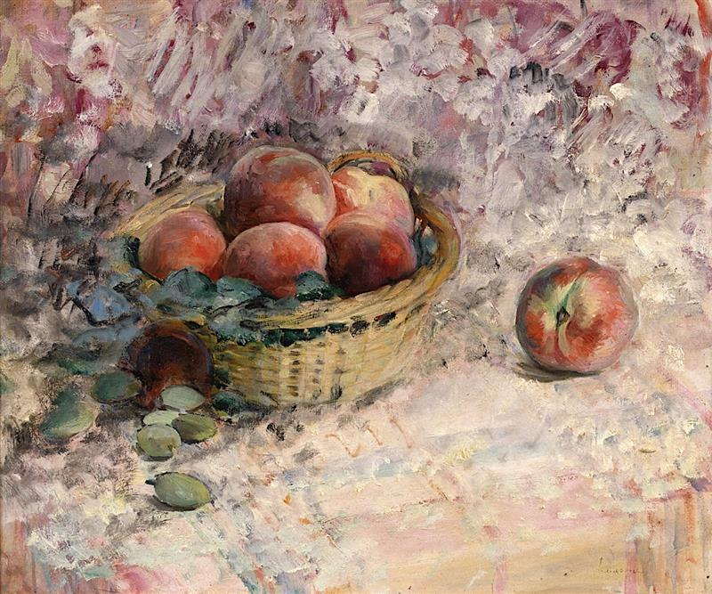 Still Life with Basket of Peaches