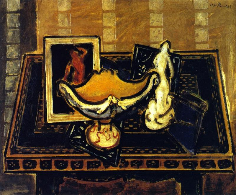 Still Life with Chalice and Statuette