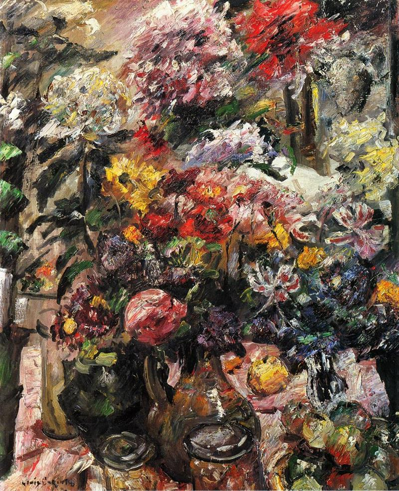 Still Life with Chrysanthemums and Amaryllis