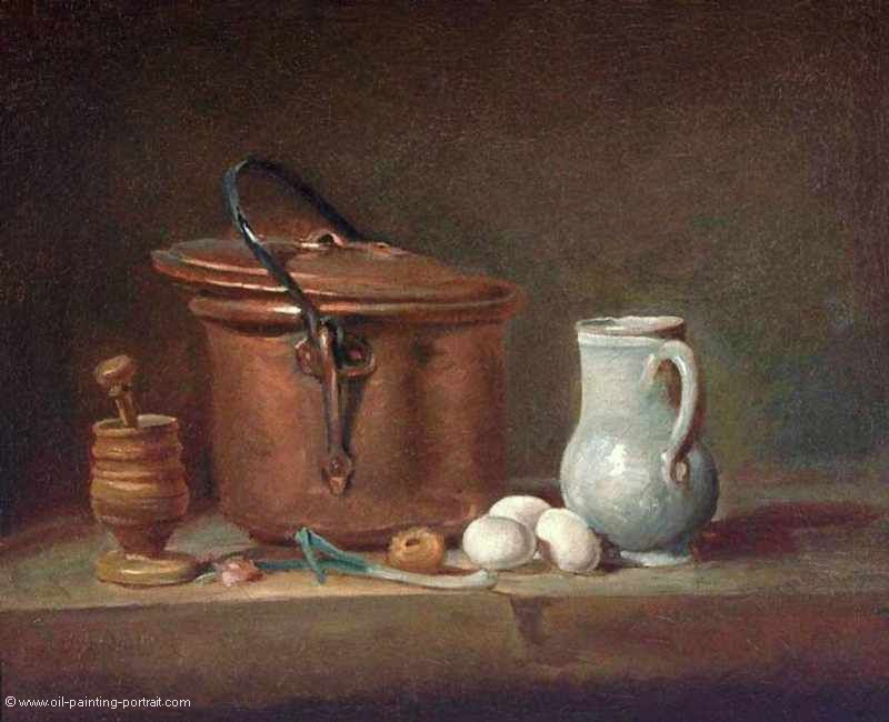 Still Life with Copper Pan and Pestle and Mortar