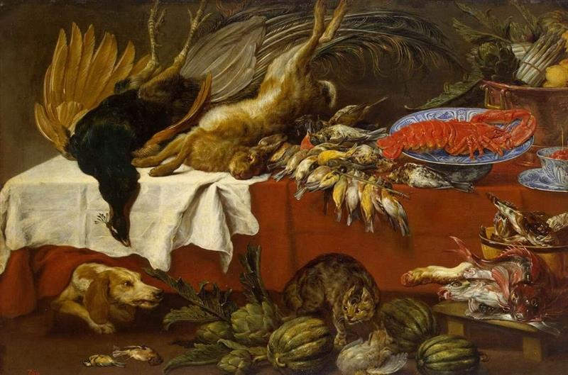 Still Life with Game and Lobster