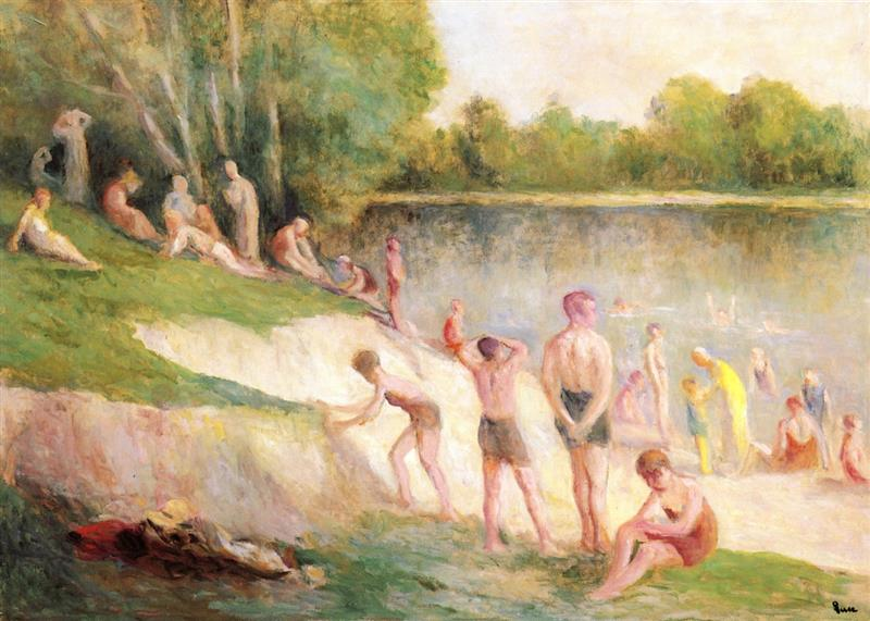 Swimming at Méricourt