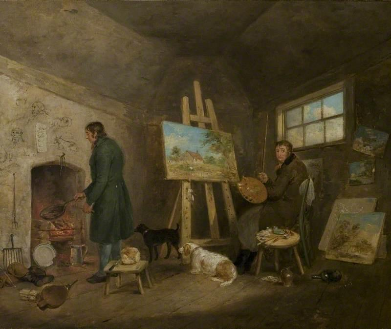 The Artist in His Studio and His Man Gibbs