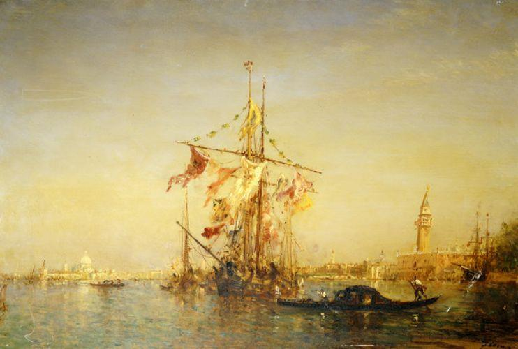The Bacino Venice with Shipping